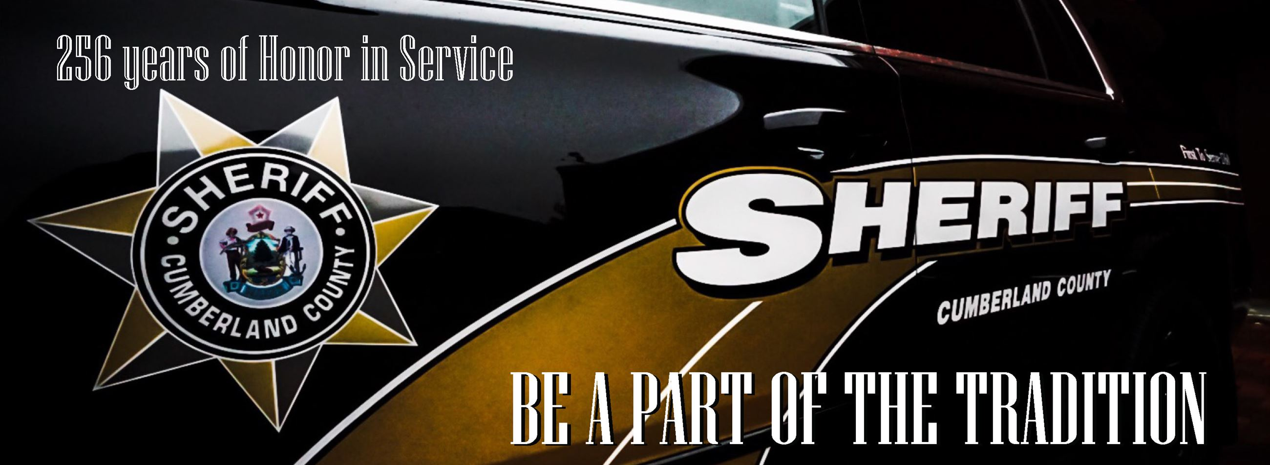 Police Cruiser: Be a Part of the Tradition Cumberland County Sheriff