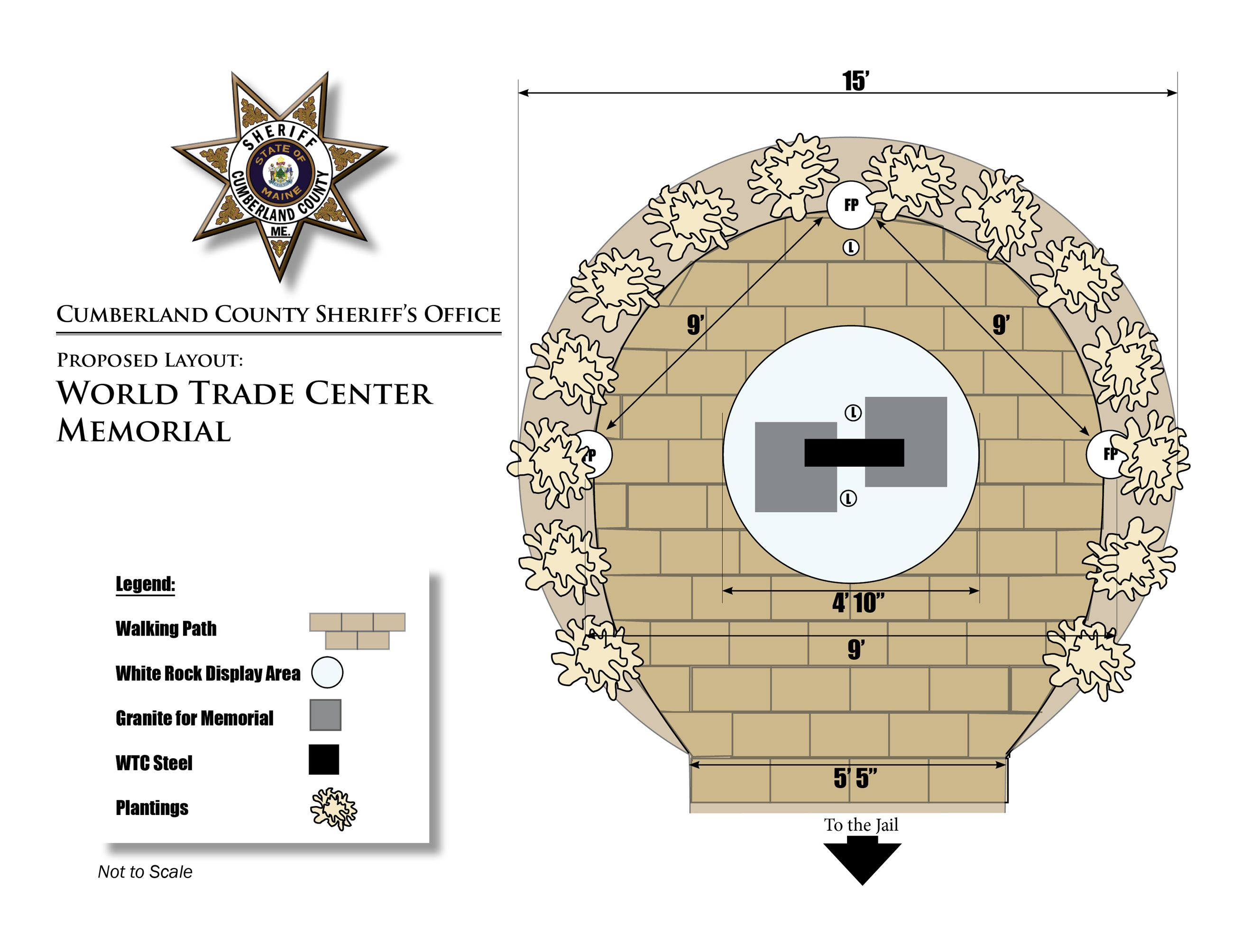 World Trade Center Memorial Proposed Layout