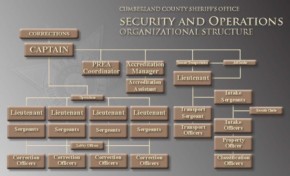 CCSO Organization Chart  Corrections Division - Security & Operations