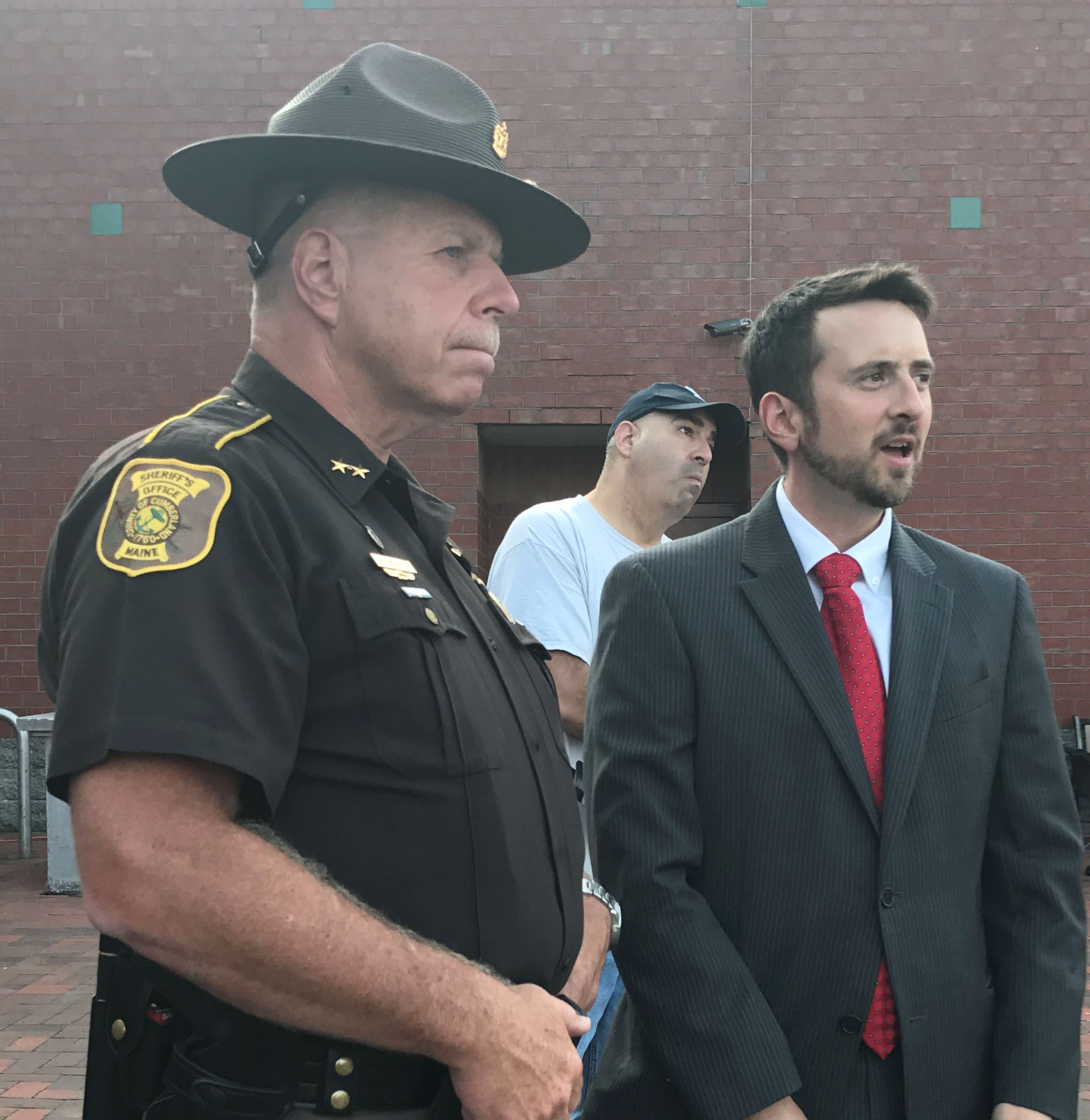 Sheriff and Man in Suit