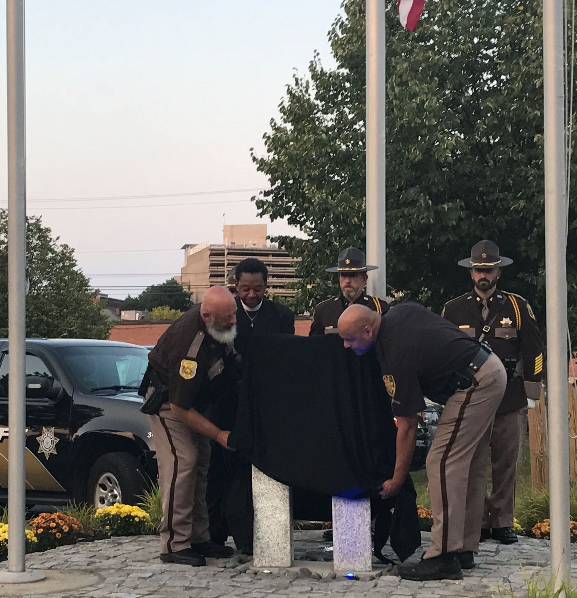 Sheriff's Deputies Unveiling Memorial