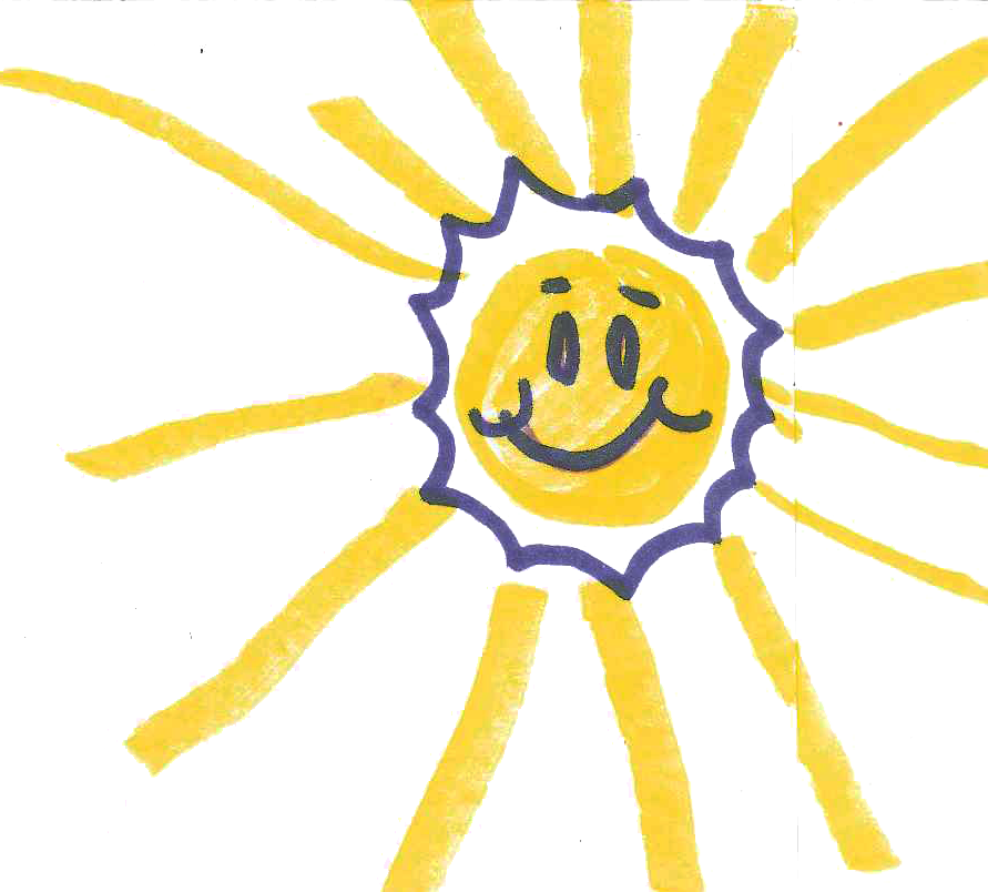 Drawing of a Smiling Sun